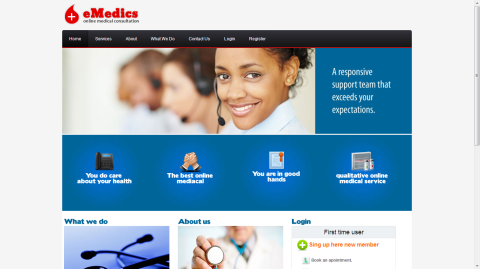 Emedics - Online Medical Consultation (with Stripe Payment Integration)